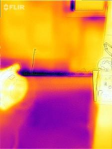 FLIR ONE works by detecting heat energy