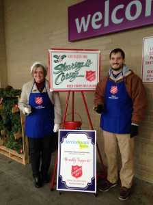 Jane & Rob - ServiceMaster NCR Helped the Salvation Army Raise Money over the Holidays with Red Kettles