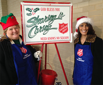 Janice & Mary from ServiceMaster NCR collecting donations for the Salvation Army