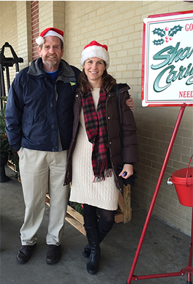 Jen & Pete from ServiceMaster NCR collecting donations for the Salvation Army