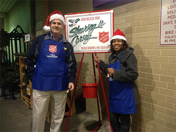 Kelly-&-Dianne from ServiceMaster NCR Collecting Donations for the Salvation Army of Alexandria