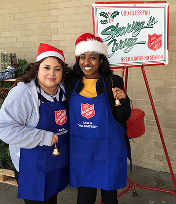 Maritza-&-Beza From ServiceMaster NCR collecting donations for the Salvation Army