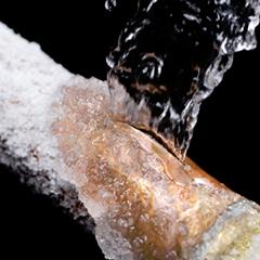 burst pipe