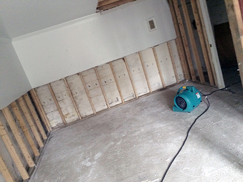 servicemaster water damage restoration project