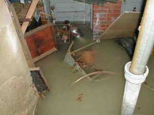 sump pump water damage